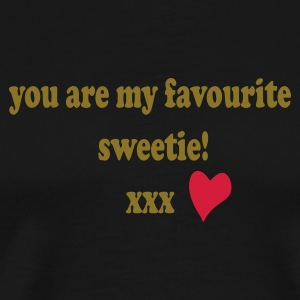 Black Sweet text patjila  Aprons - Men's Premium T-Shirt