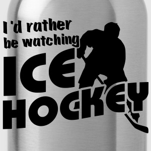 I'd Rather Be Watching Ice Hockey Kids' Zip Hoodie - Trinkflasche