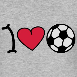 I love soccer Pullover - Männer Slim Fit T-Shirt
