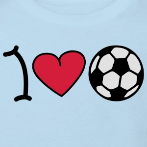 I love football Baby-bodyer - Organic børne shirt