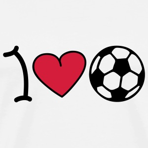 I love football Tröjor - Premium-T-shirt herr
