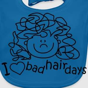 I love bad hair days Barn-T-shirts - Ekologisk babyhaklapp
