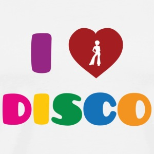 I Love Disco Buttons / Anstecker - Männer Premium T-Shirt