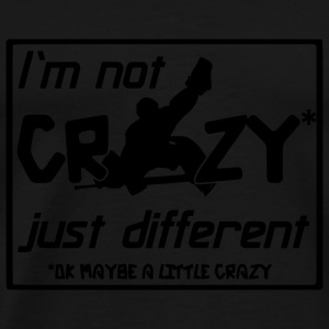 'I'm Not Crazy, Just Different' Parapluie  - T-shirt Premium Homme