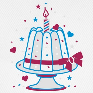A small birthday cake with a candle  Aprons - Baseball Cap