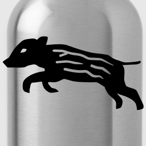 shirt pig wild boar hog - Water Bottle