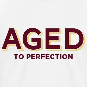 Aged To Perfection 2 (2c)++  Aprons - Men's Premium T-Shirt