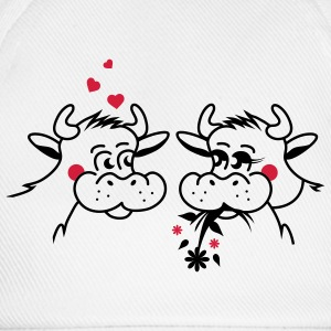 The bull and the cow are in love Underwear - Baseball Cap