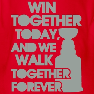 Win Together Today (ice hockey) Kids' Shirts - Organic Short-sleeved Baby Bodysuit