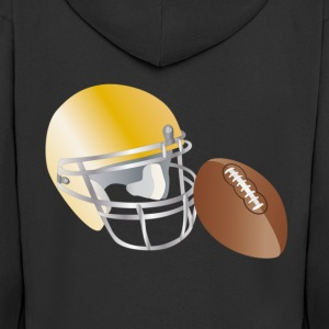 american football T-Shirts - Men's Premium Hooded Jacket
