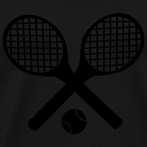 Tennis Rackets and Ball Bags  - Men's Premium T-Shirt