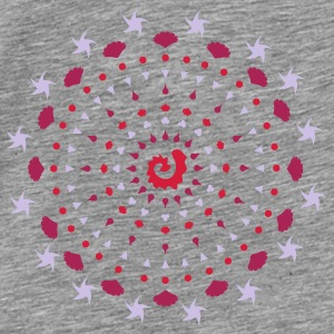 A mandala made ​​of shells and starfish Accessories - Men's Premium T-Shirt