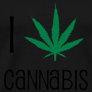 I Love Cannabis - Marijuana - Humor - Drug Bags & Backpacks - Men's Premium T-Shirt