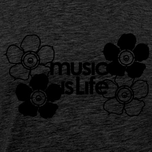 Music is Life flower Sweat - T-shirt Premium Homme