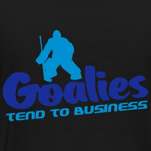 Goalies Tend To Business Coats & Jackets - Men's Premium T-Shirt