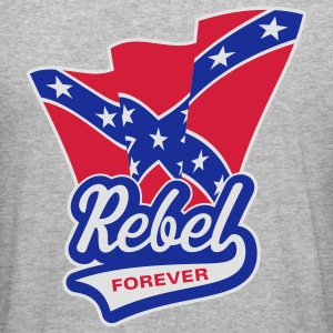 Rebel Forever Flag, Hoodie - Men's Slim Fit T-Shirt