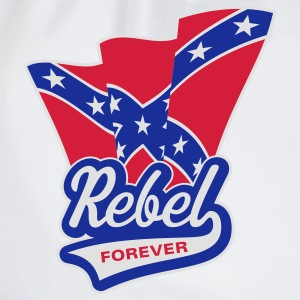 Rebel Forever Flag, T-Shirt - Drawstring Bag
