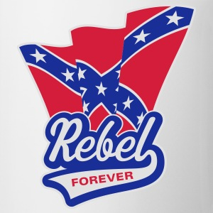 Rebel Forever Flag, T-Shirt - Mug