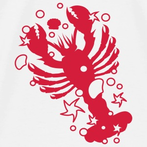 A lobster with shells and starfishes  Accessories - Men's Premium T-Shirt