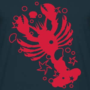 A lobster with shells and starfishes  Hoodies & Sweatshirts - Men's T-Shirt