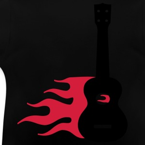 Burning Uke / Rockabilly Ukulele Kinder T-Shirts - Baby T-Shirt