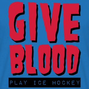 'Give Blood Play Ice Hockey' Tote Bag - Men's T-Shirt