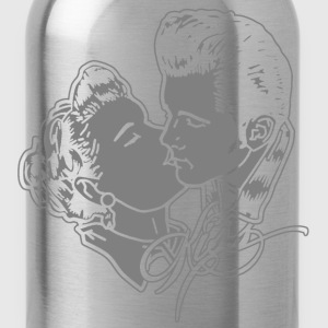 kissin rockabilly couple T-Shirts - Water Bottle