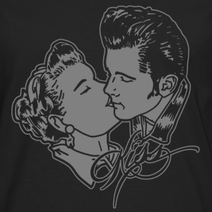 kissin rockabilly couple T-Shirts - Men's Premium Longsleeve Shirt