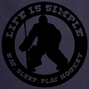 Life is Simple, Eat Sleep Play Hockey (goalie) T-Shirts - Cooking Apron