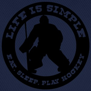 'Life is Simple' Goalie Version, Men's T-Shirt - Baseballkappe