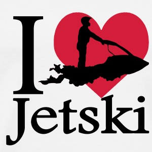 I love jet ski / jet ski I heart Hoodies & Sweatshirts - Men's Premium T-Shirt
