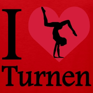 I love Turnen / I heart Turnen T-Shirts - Männer Premium Tank Top