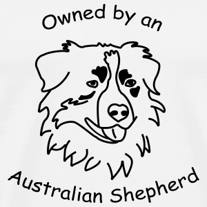 owned by an australian shepherd Tassen - Männer Premium T-Shirt