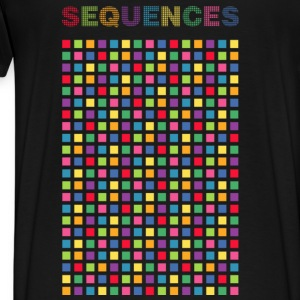 colors cube, sequences - Premium T-skjorte for menn