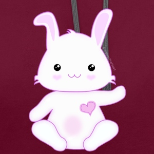 Cute Little Kawaii Bunny Rabbit - Contrast Colour Hoodie