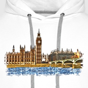 houses of parliament T-shirts - Premiumluvtröja herr