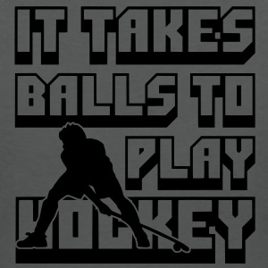 It Takes Balls to Play Hockey Polo Shirts - Women's V-Neck T-Shirt