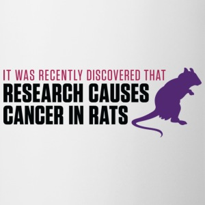 Research Causes Cancer 2 (dd)++ Camisetas - Taza