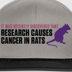 Research Causes Cancer 2 (dd)++ Pullover - Snapback Cap