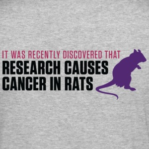 Research Causes Cancer 2 (dd)++ Hoodies & Sweatshirts - Men's Slim Fit T-Shirt