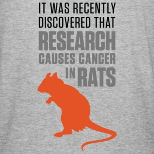 Research Causes Cancer 1 (dd)++ Hoodies & Sweatshirts - Men's Slim Fit T-Shirt