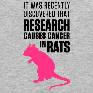 Research Causes Cancer 1 (2c)++ Hoodies & Sweatshirts - Men's Slim Fit T-Shirt