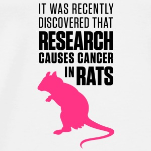 Research Causes Cancer 1 (2c)++ Väskor - Premium-T-shirt herr