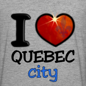 I Love Quebec City - T-shirt manches longues Premium Homme