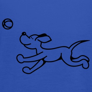 The dog plays with the ball Hoodies & Sweatshirts - Women's Tank Top by Bella