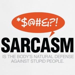 Sarcasm Defense 2 (dd)++ Sweaters - Keukenschort