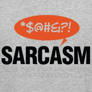 Sarcasm Defense 2 (dd)++ Hoodies & Sweatshirts - Men's Slim Fit T-Shirt