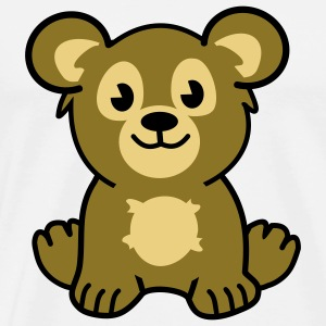 cute bear Gensere - Premium T-skjorte for menn
