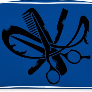 A hairdresser logo with comb, scissors and a razor T-Shirts - Retro Bag