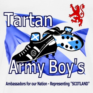 Tartan Army Boys Scotland Baby Vest - Men's Premium T-Shirt